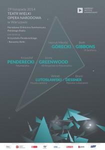 Da Greenwood a Lutos?awski: classico e contemporaneo si incontrano al Teatr Wielki