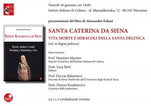 Presentazione a Varsavia del libro: La Santa dell'Oca. Vita, morte e miracoli di Santa Caterina da Siena