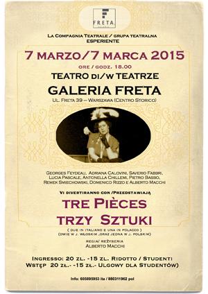 7 marzo spettacolo teatrale a Varsavia, Compagnia Esperiente