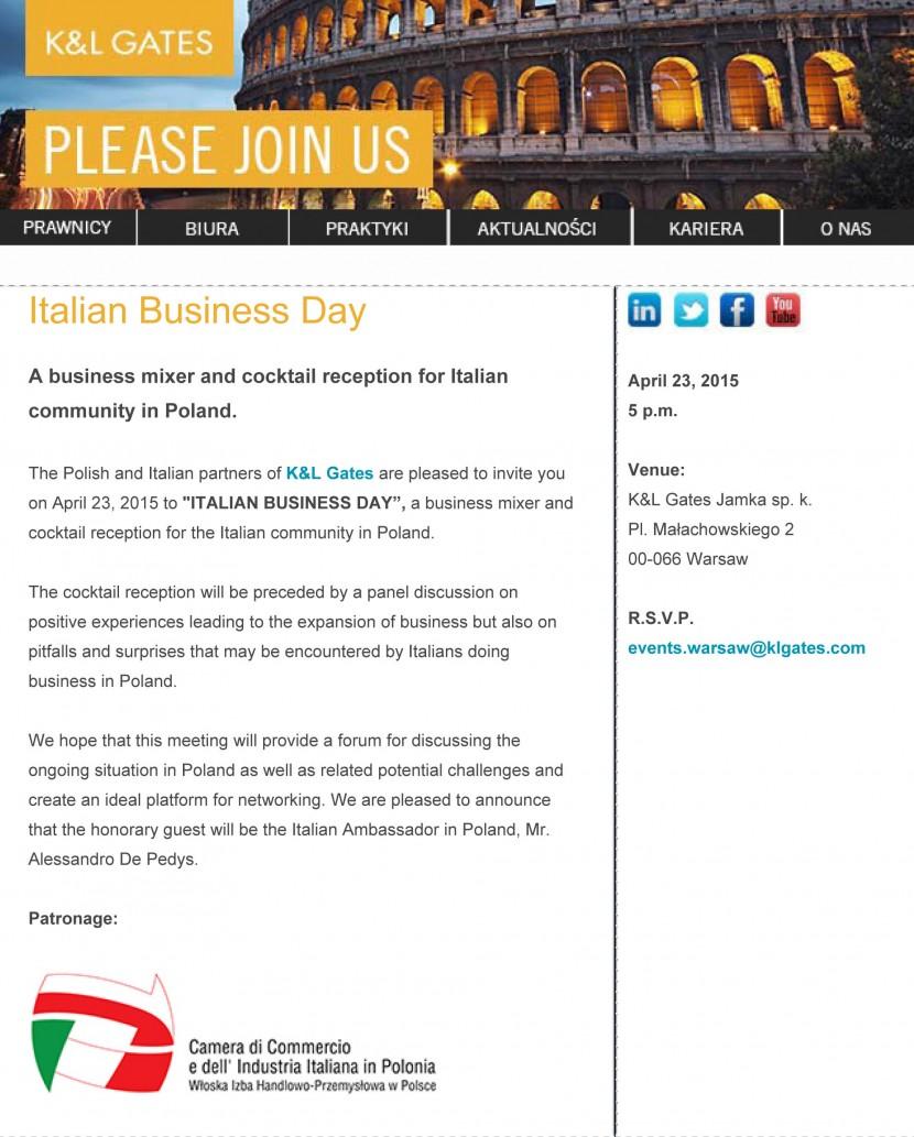 K&L Gates – Italian Business Day
