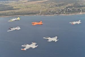 La scuola di volo di Galatina festeggia i 70 anni e ospita i piloti della Polonia