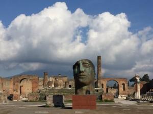 Inaugurata da Mattarella la mostra di Mitoraj a Pompei