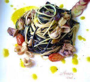 Czarno-białe spaghetti