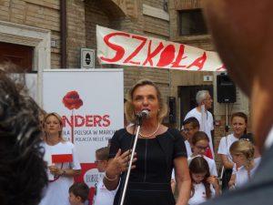 Anna Maria Anders nelle Marche per il 73° anniversario della Liberazione di Loreto e Ancona