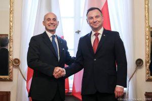 Polonia Oggi: l'Ambasciatore Amati ha presentato le lettere credenziali al Presidente Duda