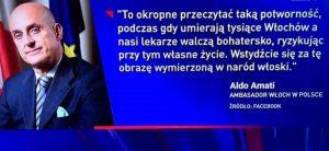 Nuovo attacco di Gazeta Wyborcza agli italiani, l'ambasciatore Amati esige ed ottiene le scuse